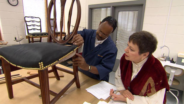 furniture conservator, Leroy Graves, Colonial Williamsburg