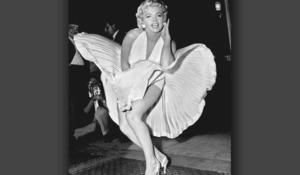 Marilyn Monroe's billowing dress