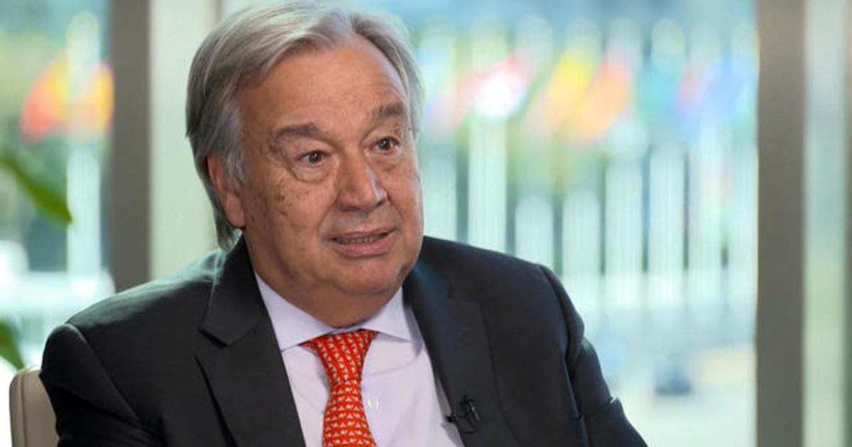 "U.N. Secretary-General says climate change poses a ""global risk"""