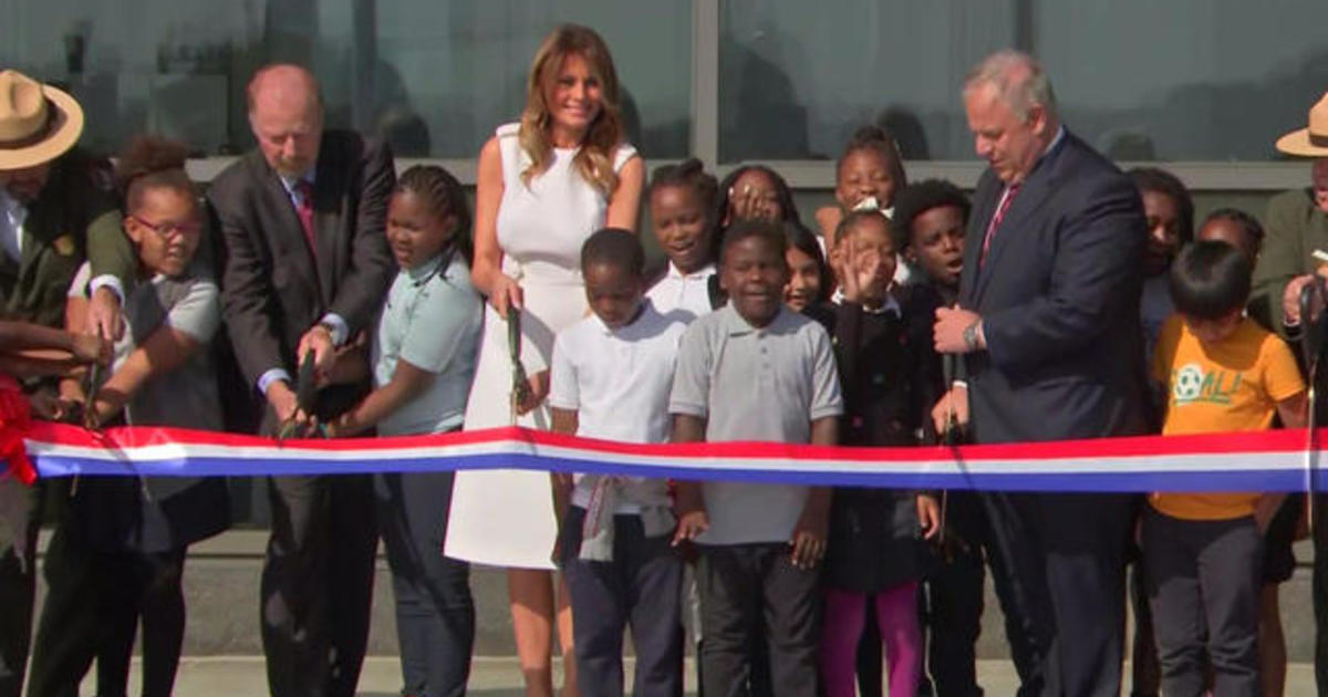 First lady Melania Trump officially re-opens Washington Monument
