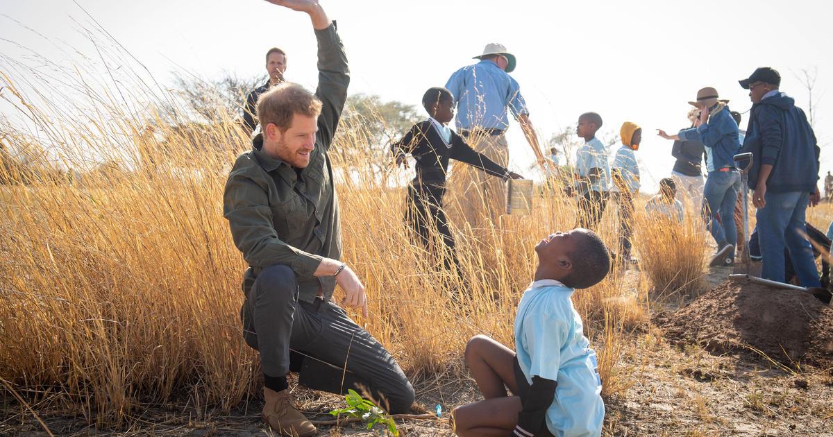 "Prince Harry warns of environmental ""emergency"" as he visits Botswana"