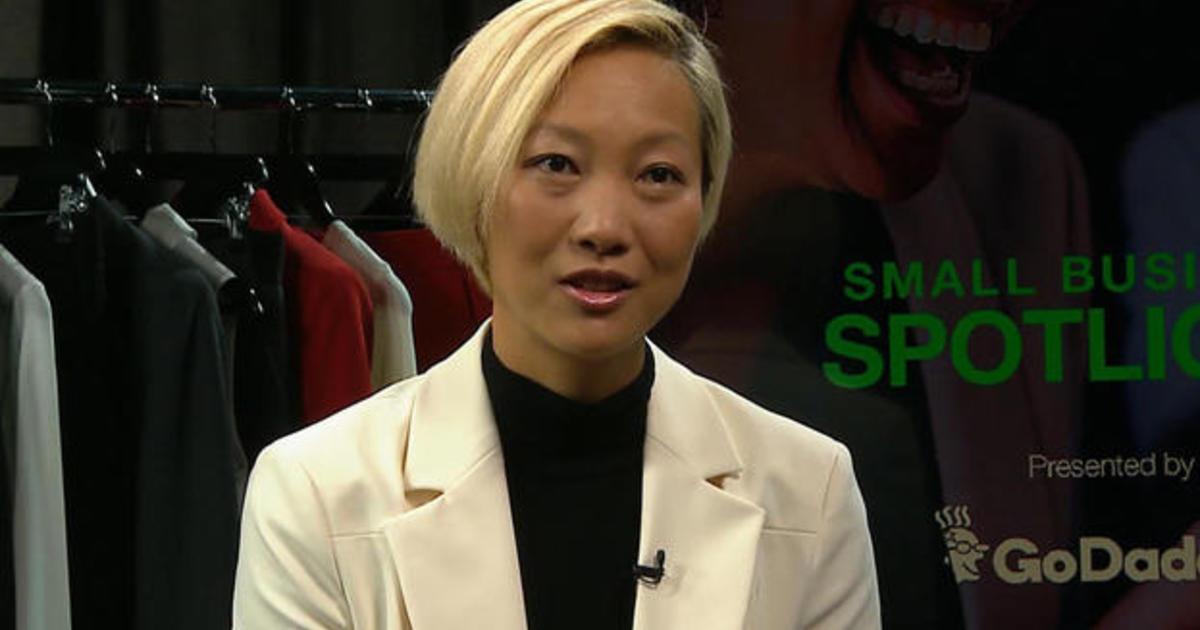 Joanna Dai makes workwear that looks like a power suit but feels like yoga wear