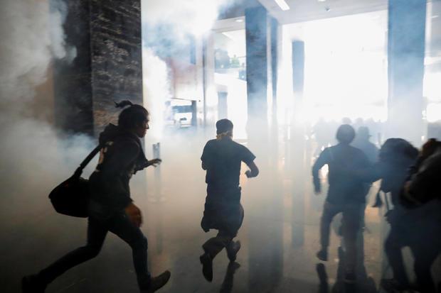 Protest against Ecuador's President Lenin Moreno's austerity measures in Quito