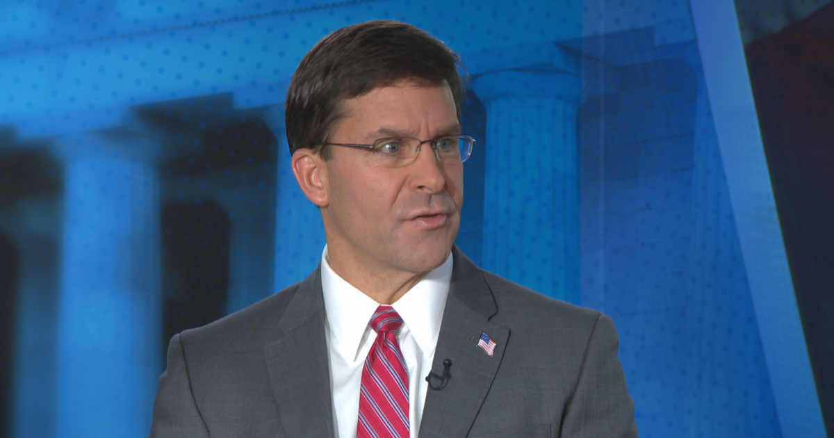 """News Syria: U.S. """"preparing to evacuate"""" all remaining troops from northern Syria, Secretary of Defense Mark Esper says on """"Face the Nation"""" today - CBS News"""