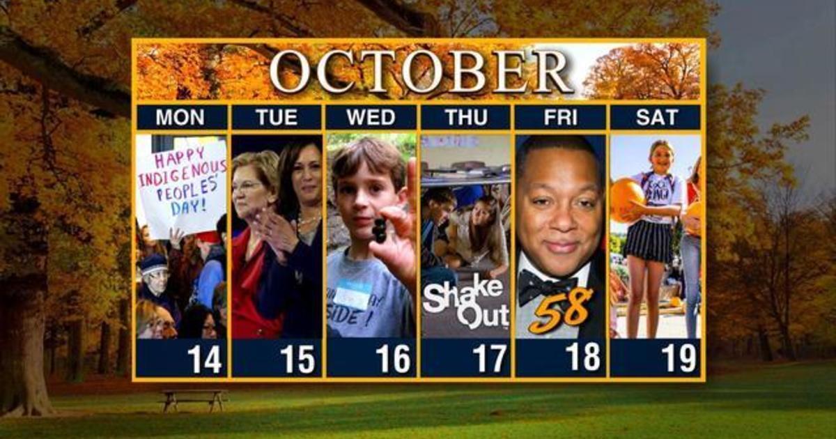 Calendar: Week of October 14