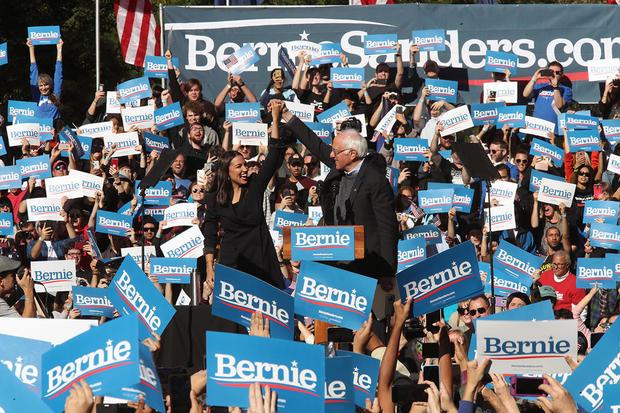 "Alexandria Ocasio-Cortez says endorsing Bernie Sanders was an ""authentic decision"""