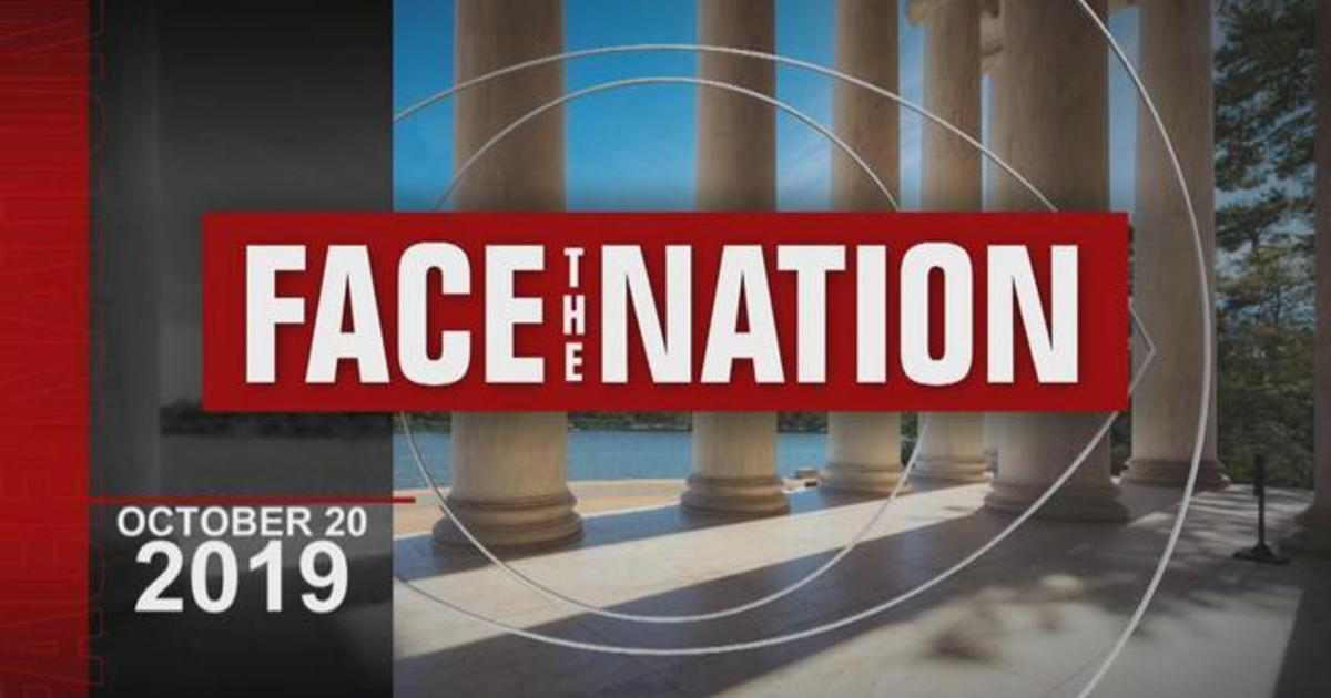 "Open: This is ""Face the Nation,"" October 20"