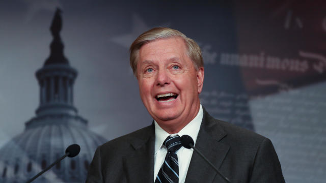 U.S. Senator Graham holds news conference to condemn House of Representatives impeachment inquiry of President Trump on Capitol Hill in Washington
