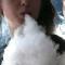 Rhiannon Griffith-Bowman smokes an e-cigarette at Digital Ciggz on January 28, 2015, in San Rafael, California.