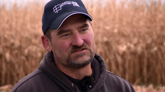 Tim Bardole, the president of the Iowa Soybean Association, speaks to CBS News.