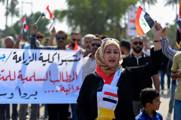 IRAQ-POLITICS-DEMO-UNREST