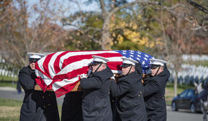 Military Funeral Honors with Funeral Escort are Conducted for U.S. Marine Corps Col. Werner Frederick Rebstock
