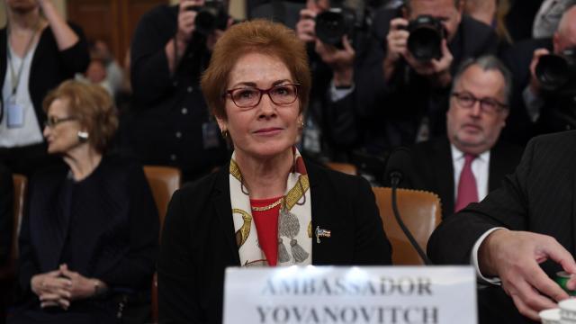 Former U.S. Ambassador To Ukraine Marie Yovanovitch Testifies At Impeachment Hearing