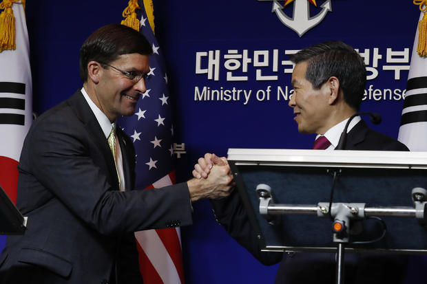 """U.S. defense chief pushes South Korea for """"substantial increase"""" in troop funding"""