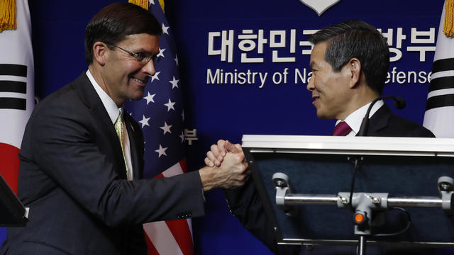 U.S. Defense Secretary Mark Esper Visits South Korea