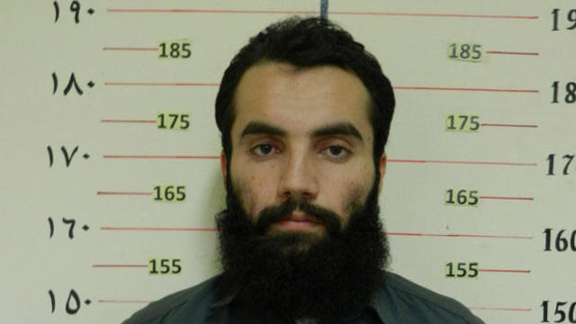 FILE PHOTO: Handout picture shows Anas Haqqani, a senior leader of the Haqqani network, arrested by the Afghan Intelligence Service (NDS) in Khost province