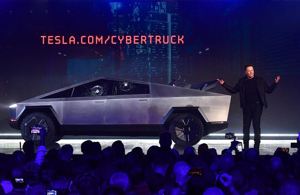 Tesla unveils eye-catching electric Cybertruck pickup