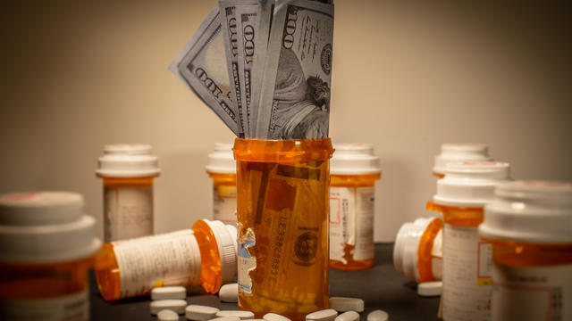 American Currency in a Prescription Drug Bottle