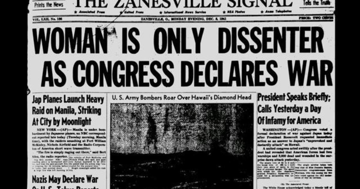 """Almanac: A """"Nay"""" vote following Pearl Harbor"""