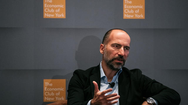 Uber CEO Dara Khosrowshahi Speaks At The Economic Club Of New York
