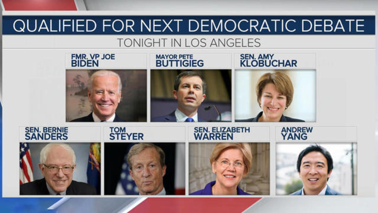 What To Expect As Democratic Candidates Debate Tonight In Los Angeles Cbs News