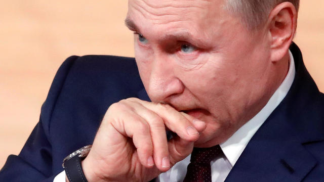 Russian President Vladimir Putin's annual end-of-year news conference in Moscow