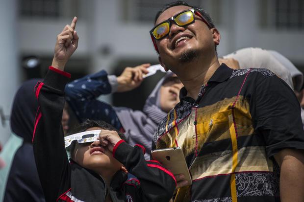 INDONESIA-ASTRONOMY-SOLAR-ECLIPSE