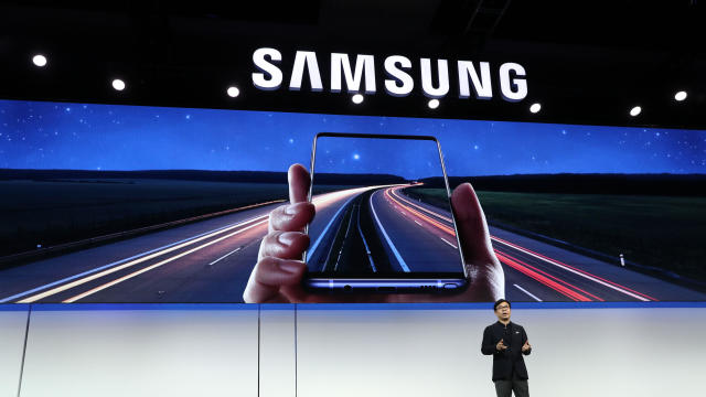 Samsung Electronics President and CEO H.S. Kim speaks during a Samsung press event for CES 2019 at the Mandalay Bay Convention Center on January 7, 2019, in Las Vegas, Nevada.