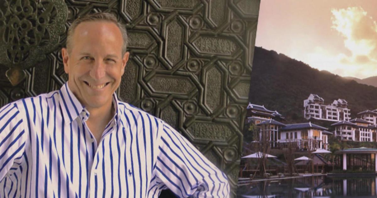 Hotel designer Bill Bensley, delighting in the art of surprise