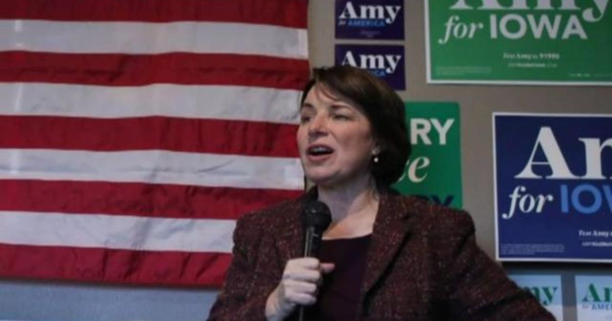Senator Amy Klobuchar trying to fight her way into the Democrats' top tier
