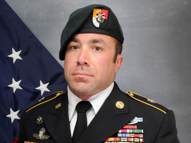 Master Sergeant Nathan Goodman is seen in a picture distributed by U.S. Army Special Operations Command.
