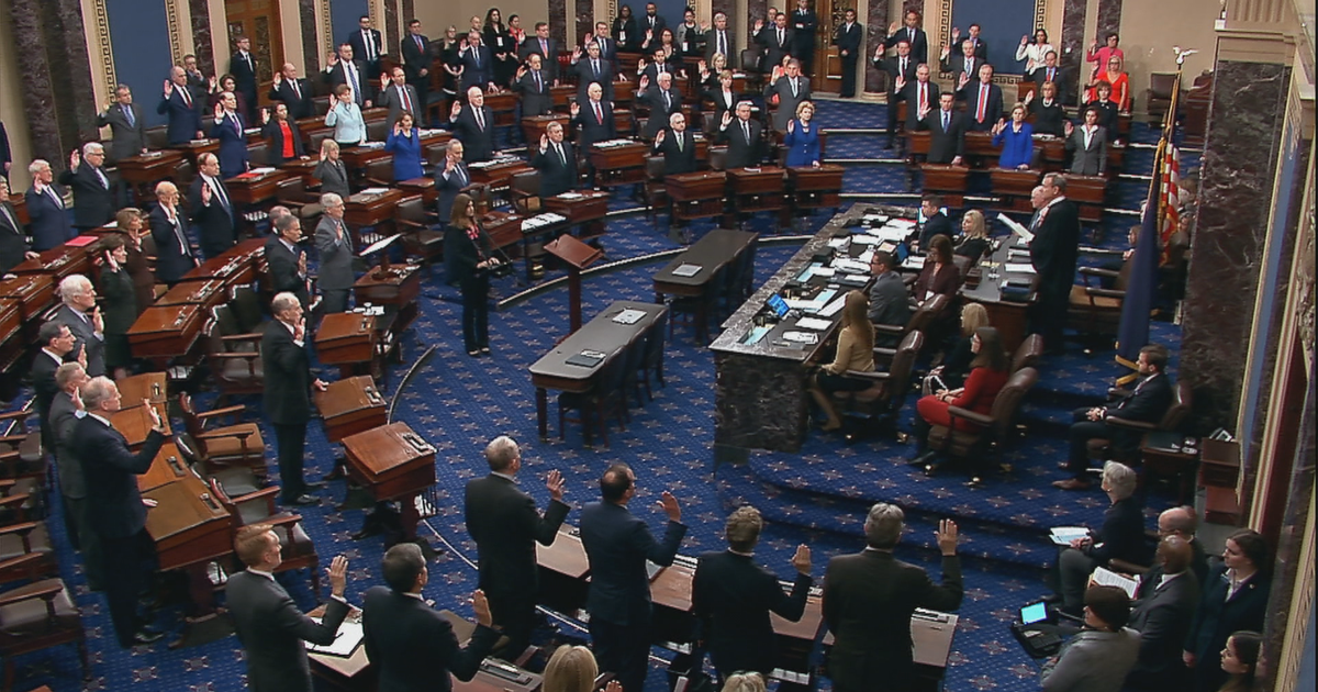 Inside the chamber: A mostly somber mood as senators take impeachment oath