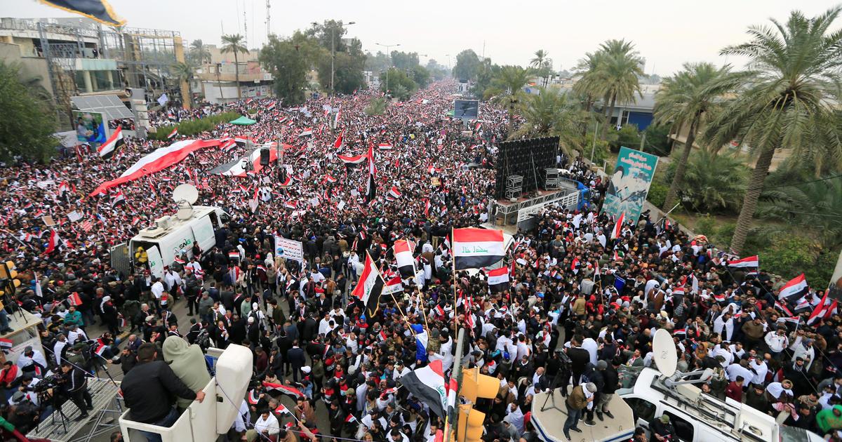 Thousands protest in Baghdad to demand U.S. troop withdrawal