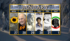 Calendar: Week of January 27
