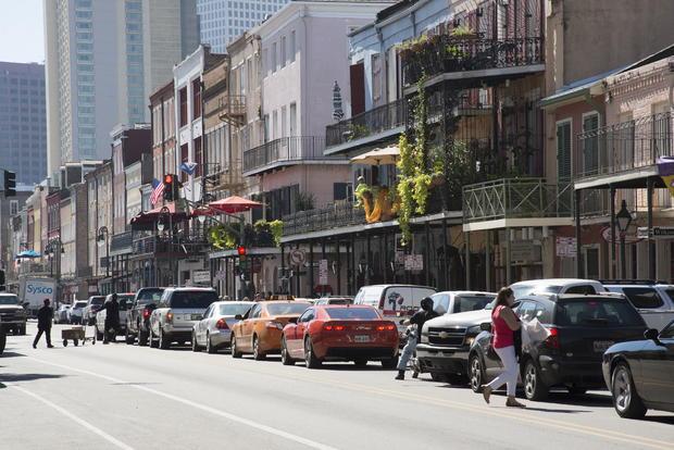 Famous Decatur St French Quarter New Orleans USA
