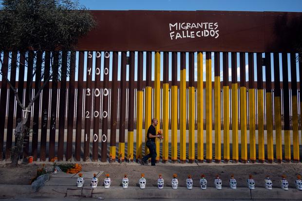 MEXICO-US-BORDER-DAY OF THE DEAD-WALL-PAINTING