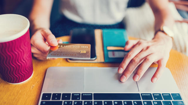 Paying online with credit card