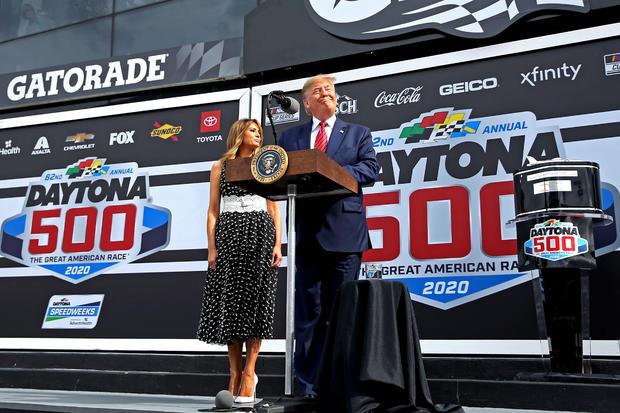 Donald Trump — NASCAR: Daytona 500