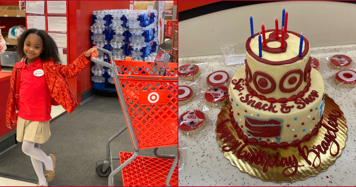 A little girl loves Target so much — she celebrated her 8th birthday there