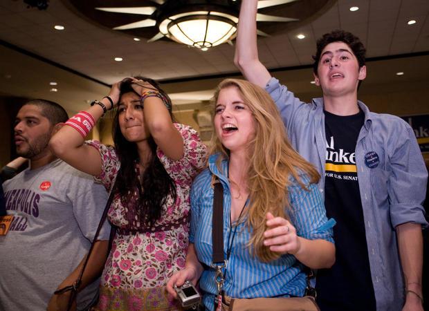 Senate Candidate Al Franken Holds Election Night Gathering