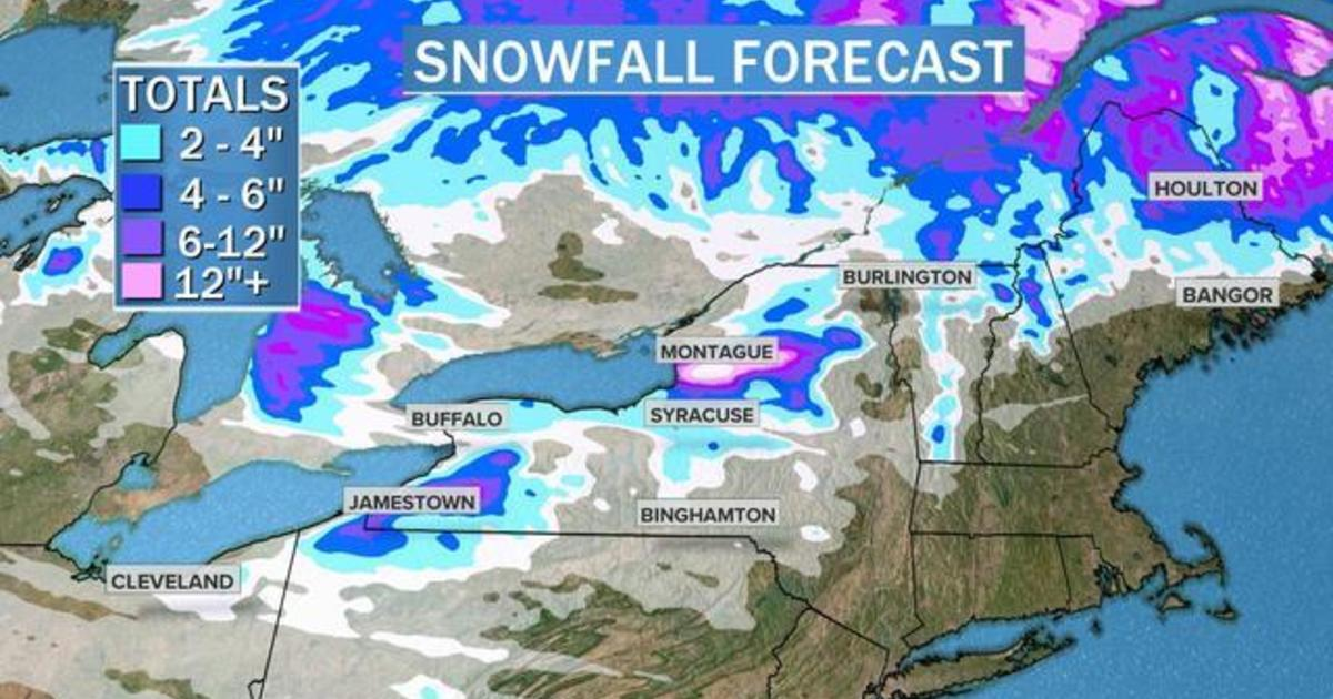 Lake-effect snow to bury parts of upstate New York
