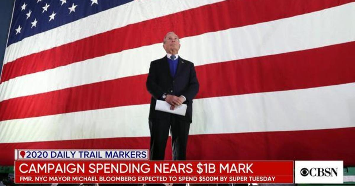 2020 presidential campaign spending nears $1B by Super Tuesday