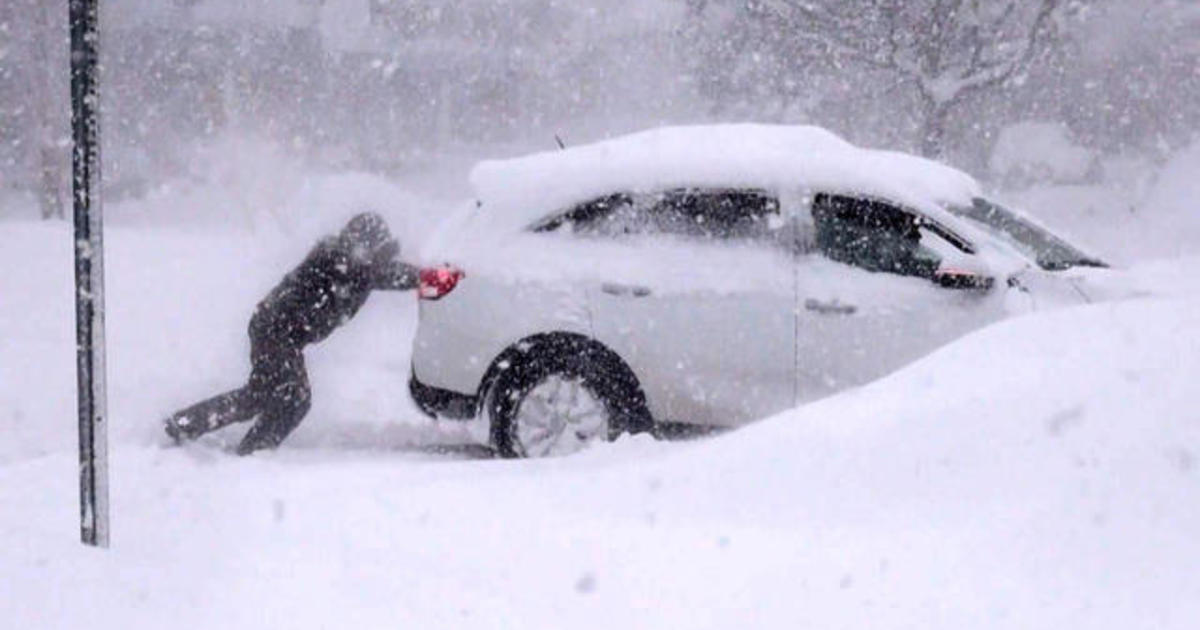 """Rare meteorological phenomenon called a """"snow firehose"""" pumps 3-4 feet of snow in upstate N.Y."""