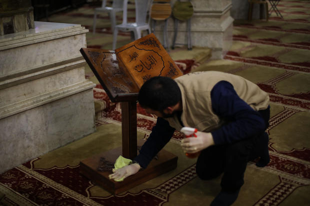 Coronavirus precautions at Al Aqsa Mosque Compound