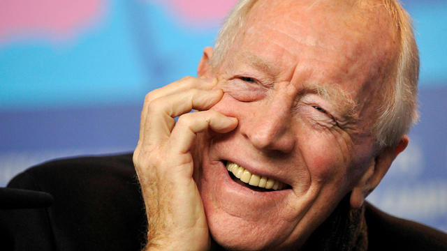 FILE PHOTO: Actor von Sydow attends news conference to promote movie 'Extremely Loud And Incredibily Close' at 62nd Berlinale International Film Festival in Berlin