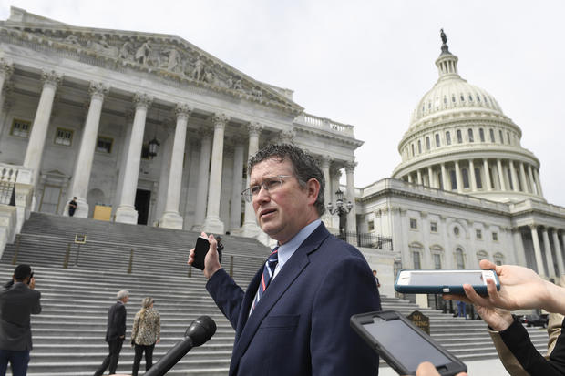 Rep. Thomas Massie of Kentucky, who demanded an in-person vote for the $2.2 trillion coronavirus response bill