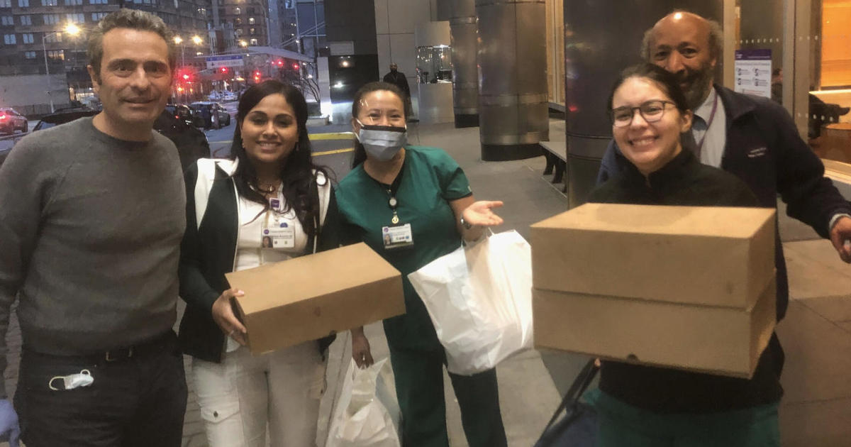To save their family business, restaurant owners ask people to buy meals for New York City health care workers
