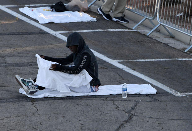 Temporary Homeless Shelter Opens At Cashman Center In Las Vegas