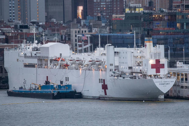 USNS Comfort Hospital Ship In New York To Aid Coronavirus Response Remains Largely Unused