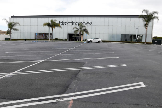 A closed shopping mall and its empty parking lot is shown during the global outbreak of the coronavirus disease (COVID-19) in Costa Mesa, California
